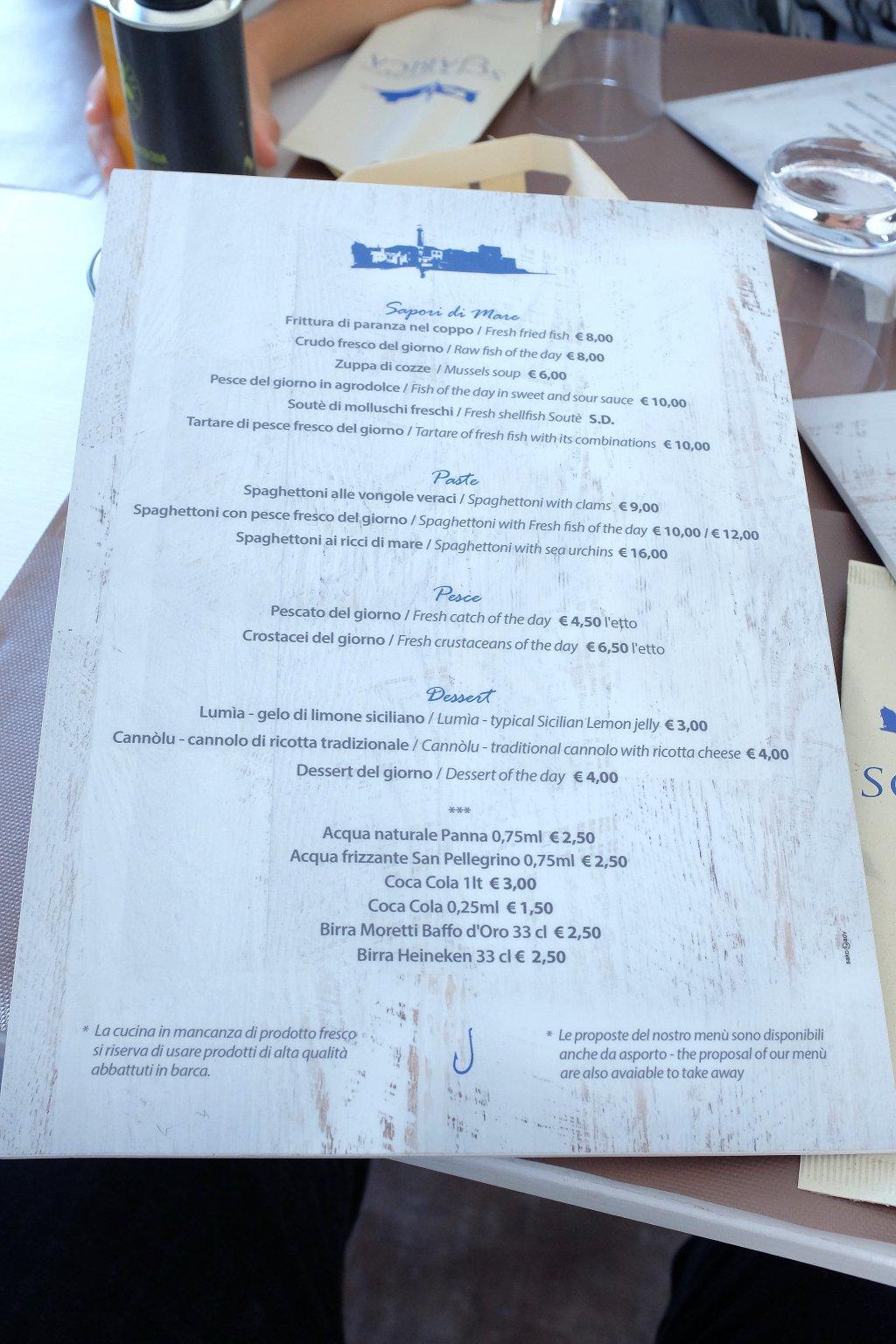 menù, Scjabica, Chef Joseph Micieli, Punta Secca, Santa Croce Camerina, Ragusa