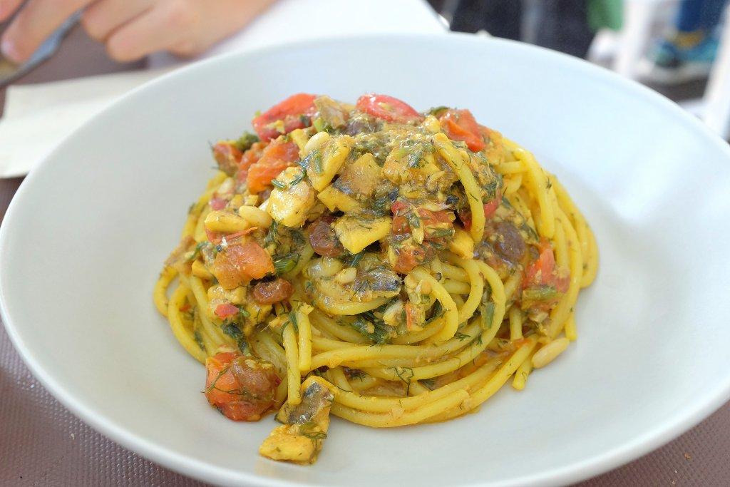 pasta alici e zafferano, Scjabica, Chef Joseph Micieli, Punta Secca, Santa Croce Camerina, Ragusa