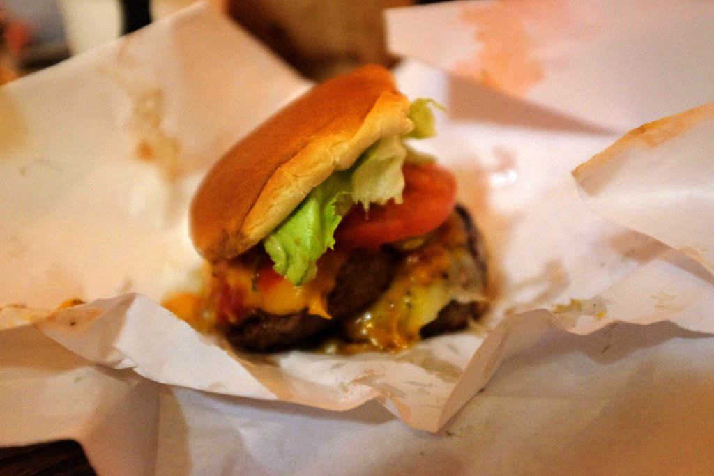 Double burger, Burger Joint, New York