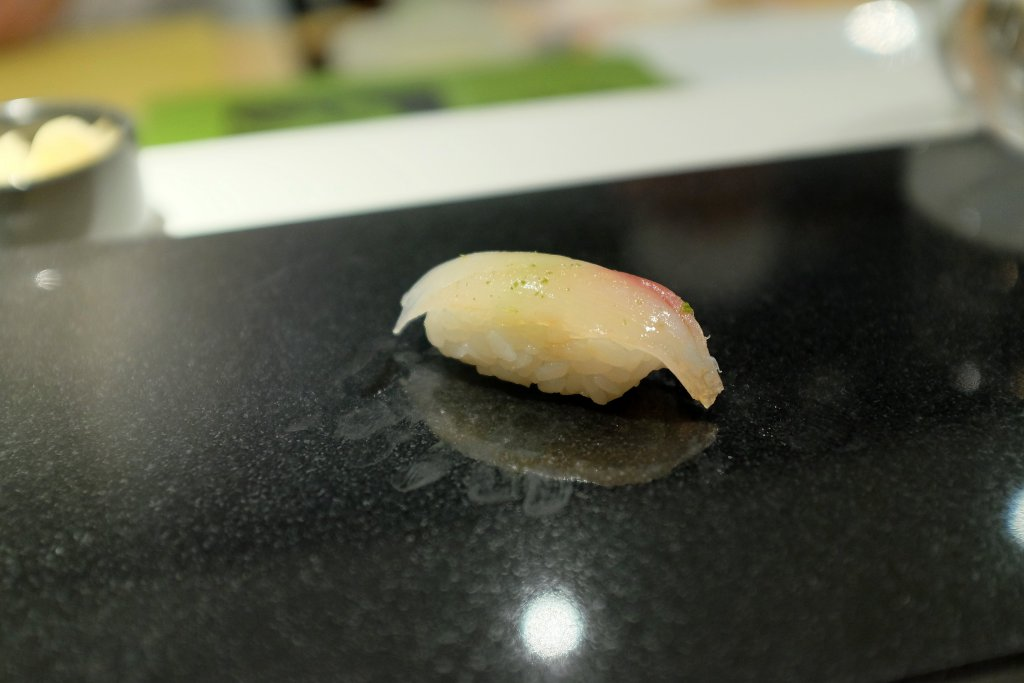 nigiri, red cornet fish, Sushi Nakazawa, Daisuke Nakazawa, New York