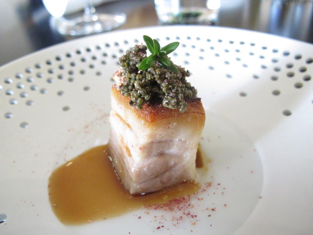 pancia di maialino, Kresios, Chef Giuseppe Iannotti, Telese Terme, Benevento
