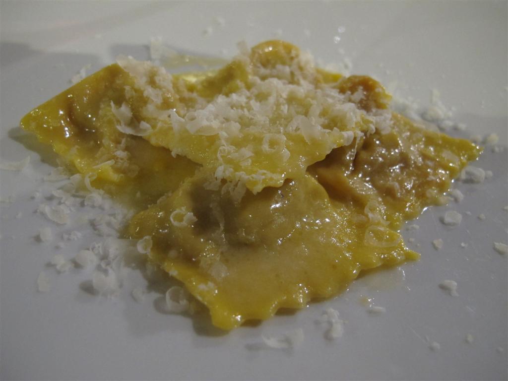tortelli di zucca, Il Merlo, Chef Angelo Torcigliani, Camaiore