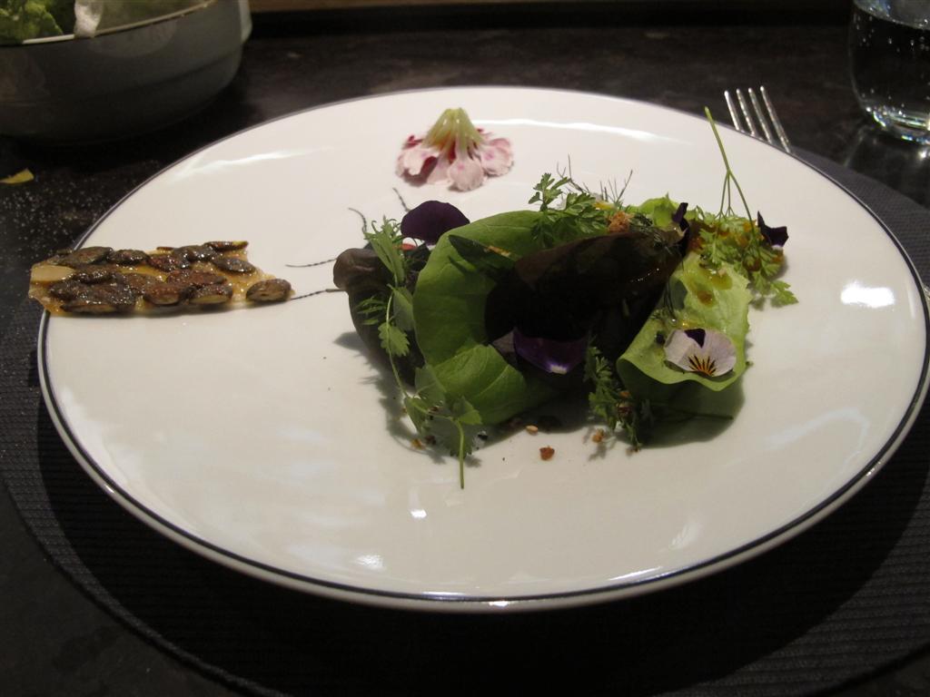 insalata uovo, cialda, Ristorante Del Cambio, Chef Matteo Baronetto, Torino