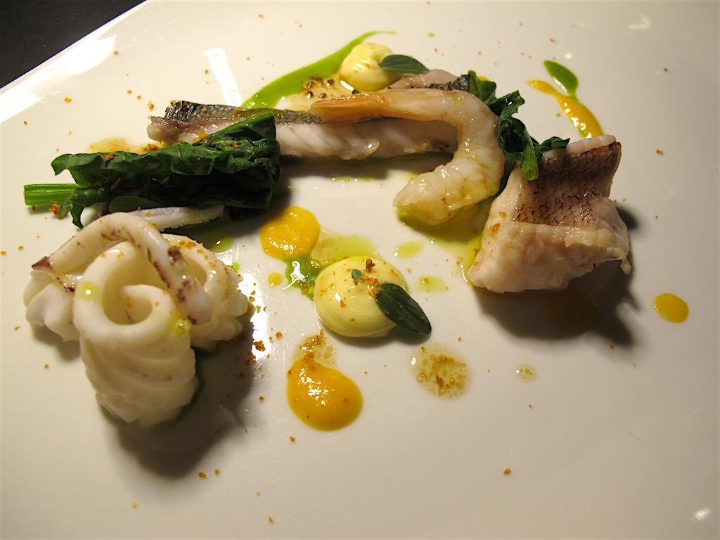 Calamaro, sarago, Per me, Chef Giulio Terrinoni, Roma