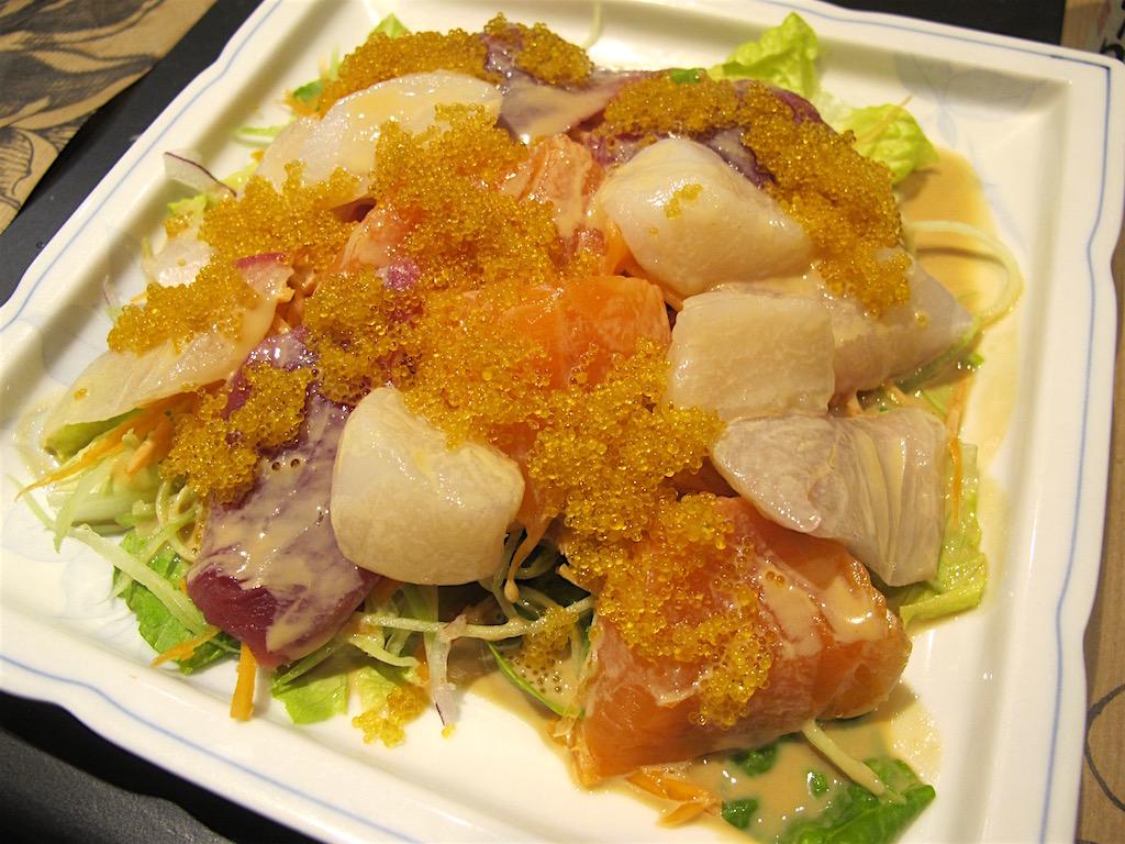 Insalata Kiko, Kiko Sushi Bar, Chef Atsukumi Kikuchi, Roma