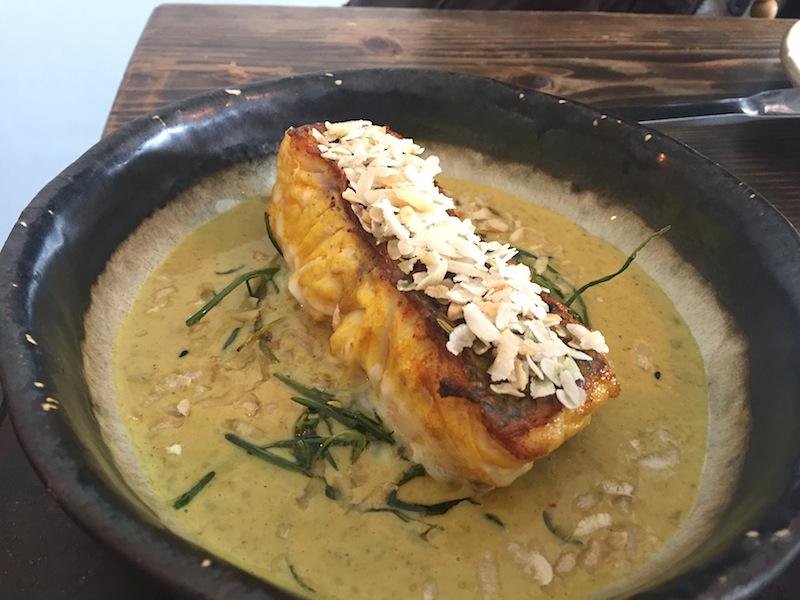 nasello salsa malai, Cricket Restaurant, Chef Will Bowlby, Londra