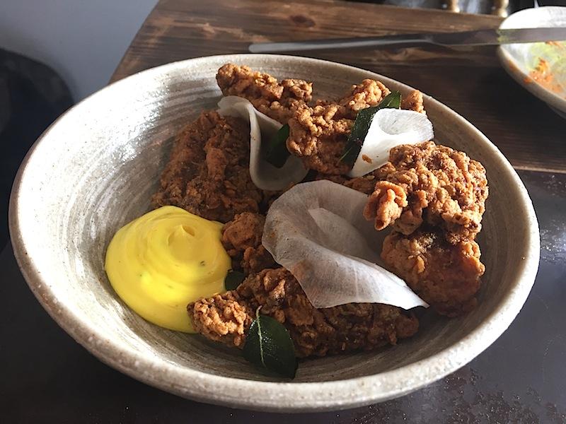 pollo fritto del kerala, Cricket Restaurant, Chef Will Bowlby, Londra
