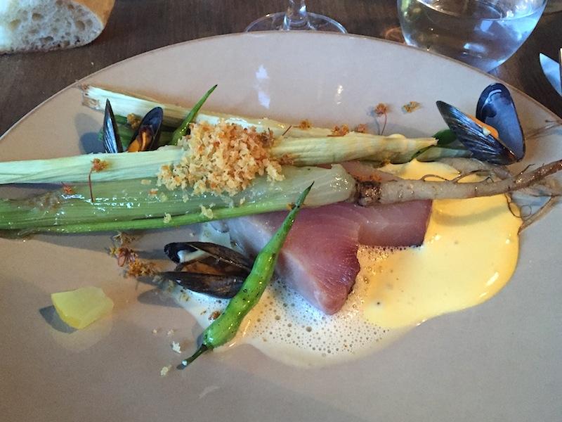 tonno bianco, Café Sillon, Chef Matthieu Rostaing-Tayard, Lyon
