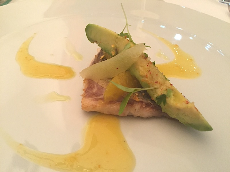 Branzino, chips, Maison Decoret, Chef Jacques Decoret, Vichy, France