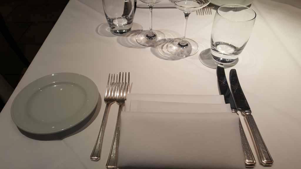 mise en place, Zafferano Restaurant, Londra