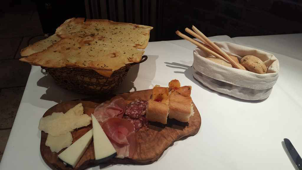 antipasto, Zafferano Restaurant, Londra