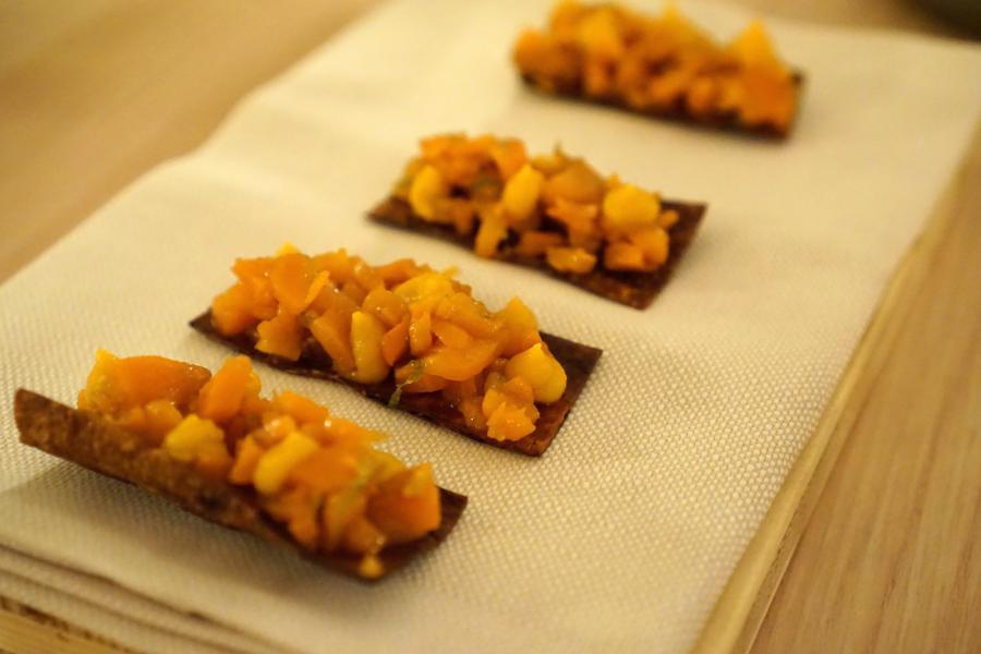 carota in carpione, Aga, chef Oliver Piras e Alessandra Del Favero, San Vito di Cadore