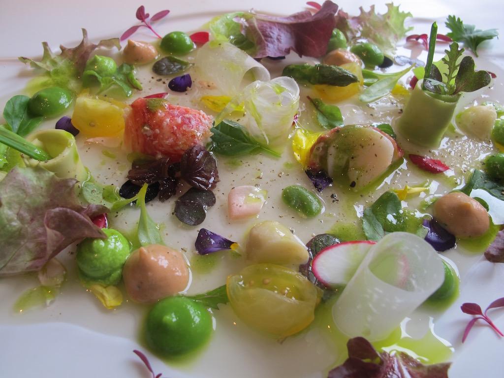 cuore di verdure in insalata, Martin Berasategui, Lasarte-Oria (Gipuzkoa), Paesi Baschi
