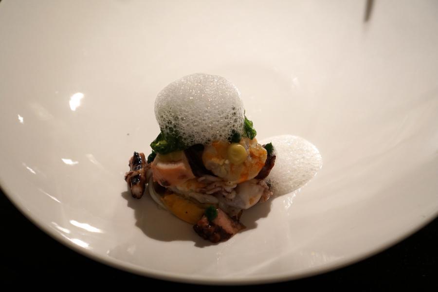 insalata di mare, chef Massimiliano Poggi, Trebbo, Bologna