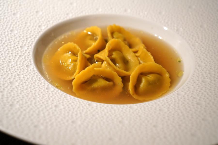 cappelletti in brodo, chef Massimiliano Poggi, Trebbo, Bologna