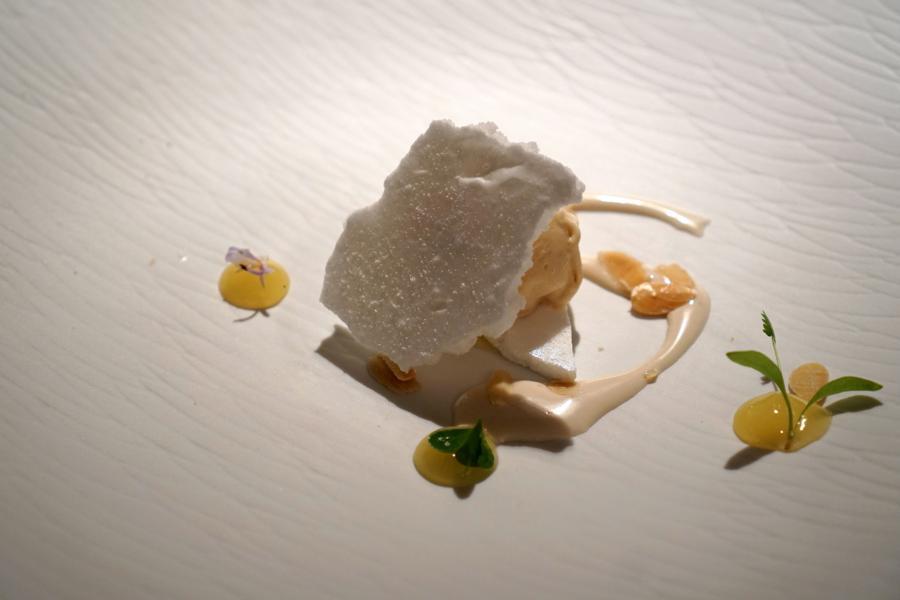 latte e mandorle, chef Massimiliano Poggi, Trebbo, Bologna