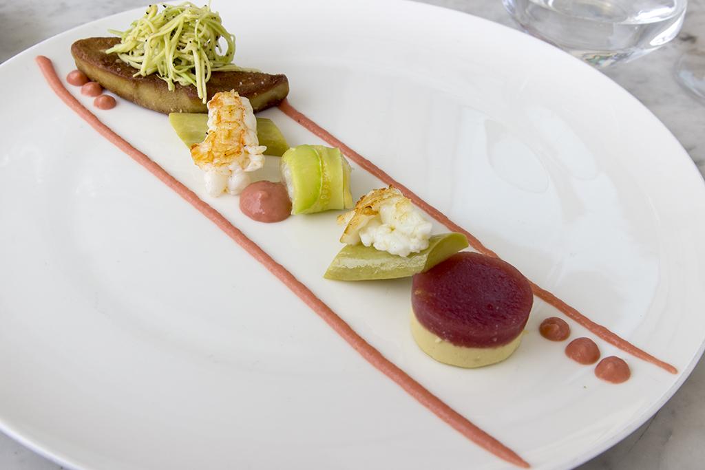 scampo e foie gras, Il Marin, Chef Marco Visciola, Eataly, Genova