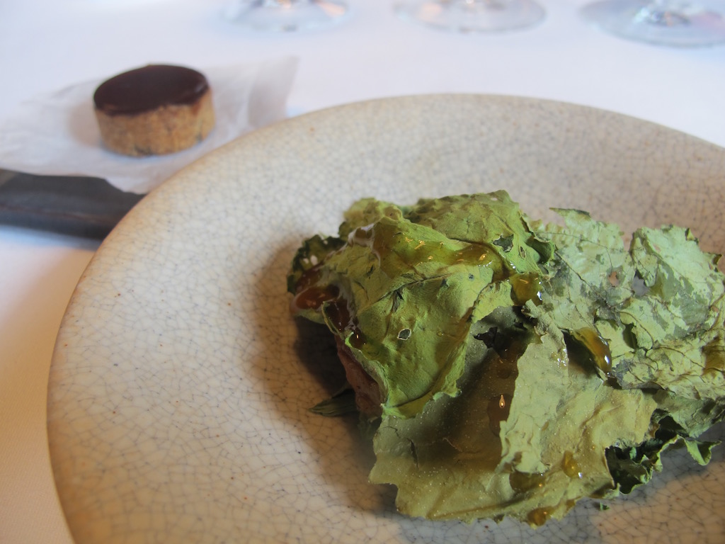 foglie, aglio, Mugaritz, Chef Andoni Luis Aduriz, Errenteria Gipuzkoa, Spagna