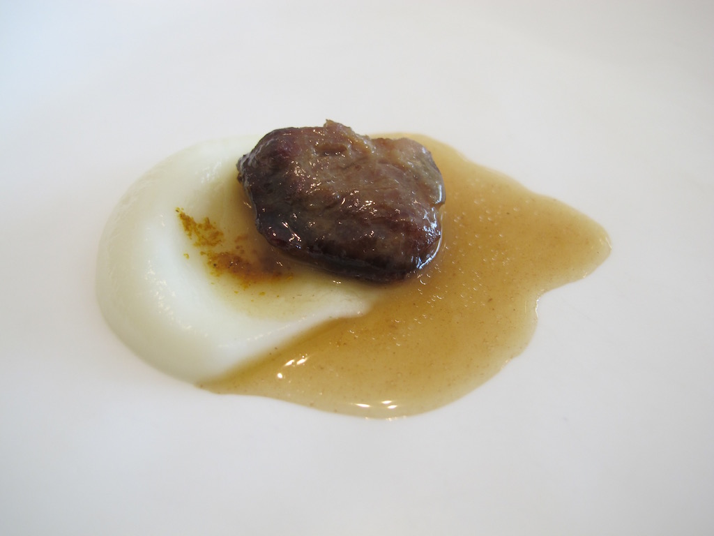 guancia, Nerua, Chef Josean Alija, Bilbao, Spagna