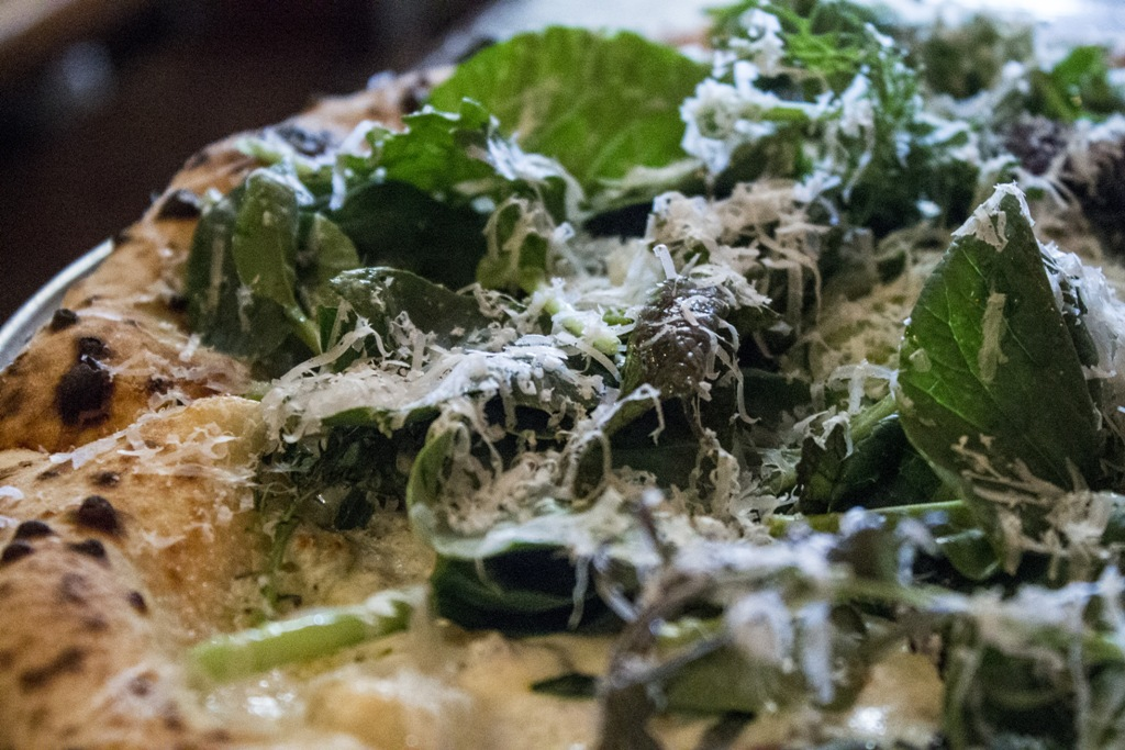 white and greens, Roberta's Bakery, Brooklyn, New York