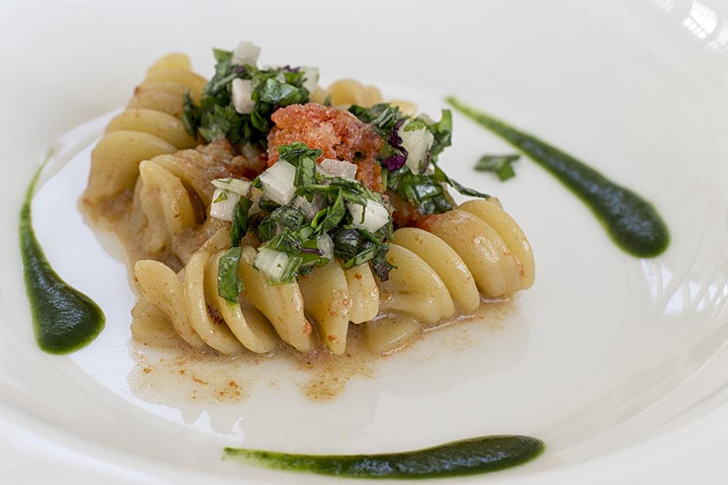 fusilli, acetosella, Uliassi, Chef Mauro Uliassi, Senigallia, Ancona, Marche