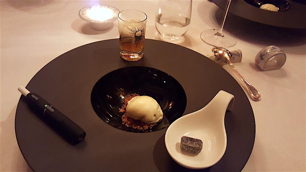 erbe balsamiche, gelato, Enoteca al Parlamento,Chef Massimo Biglietti, Roma