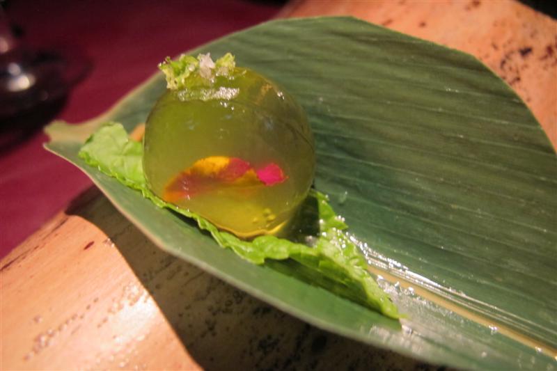 margarita in sfera, 41° Experience, Chef Albert Adrià, Barcellona, spagna