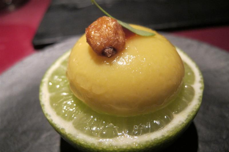 ravioli di mais, 41° Experience, Chef Albert Adrià, Barcellona, spagna