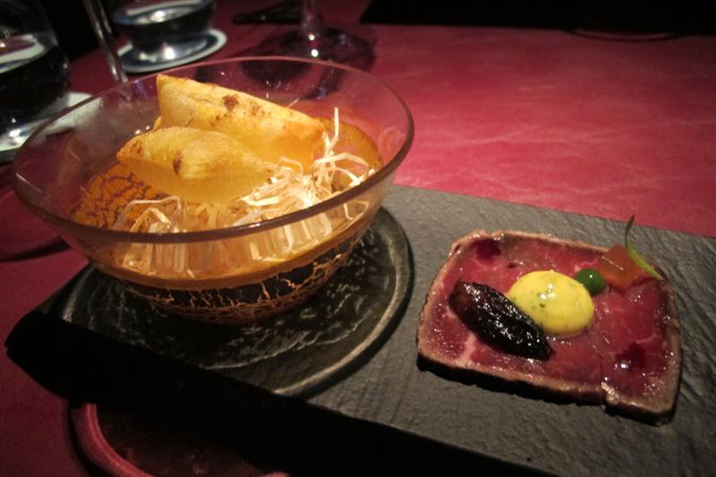 tagliata, 41° Experience, Chef Albert Adrià, Barcellona, spagna