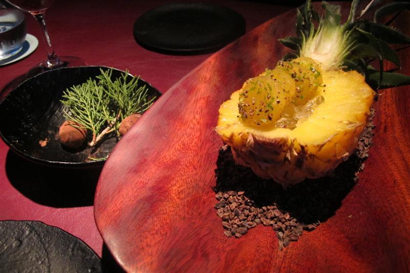 nitro ananas, 41° Experience, Chef Albert Adrià, Barcellona, spagna