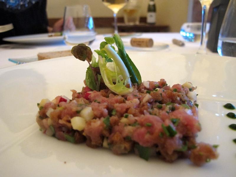 antipasto, dadolata di carne, Maison Decoret, Chef Decoret, Vichy, Francia