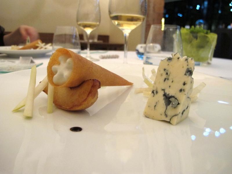 pera, formaggio, Maison Decoret, Chef Decoret, Vichy, Francia