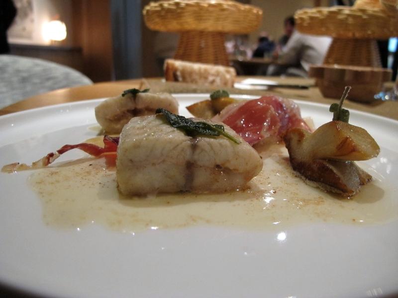 secondo piatto, Anguilla e funghi, Maison Troisgros, Chef Troisgros, Roanne, France