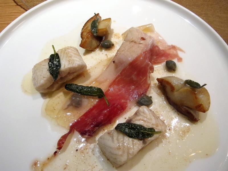 secondo piatto, anguilla e funghi, saltimbocca, Maison Troisgros, Chef Troisgros, Roanne, France