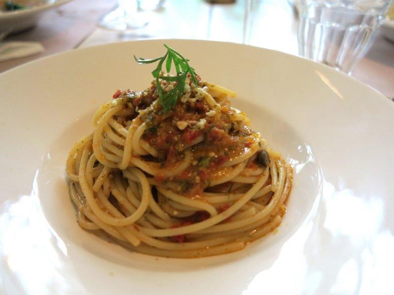 spaghettoni di gragnano, Al Fresco, Chef Kokichi Takahashi, Milano