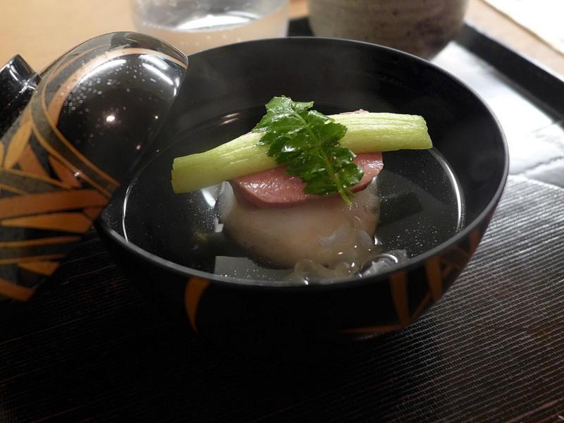 lingua, Isshin, Chef Hideichi Katagiri, Kyoto, Giappone