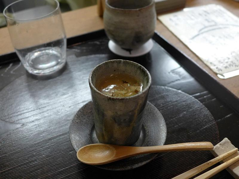 spalla marinata allo zenzero, Isshin, Chef Hideichi Katagiri, Kyoto, Giappone