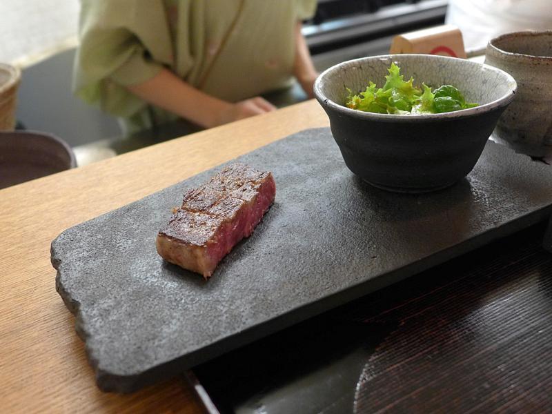 controfiletto, Isshin, Chef Hideichi Katagiri, Kyoto, Giappone