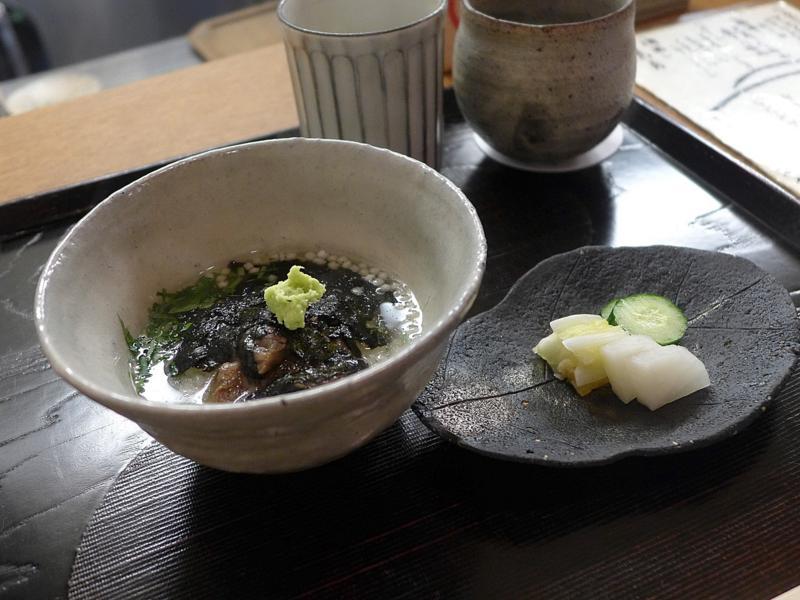 zuppa di alga nori, Isshin, Chef Hideichi Katagiri, Kyoto, Giappone