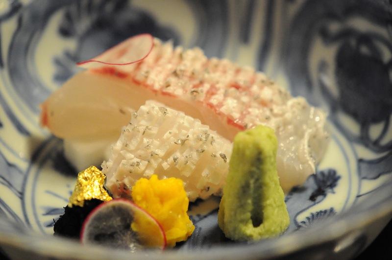 sashimi, Kitcho, Chef Kunio Tokuoka, Cucina Kaiseki, Kyoto