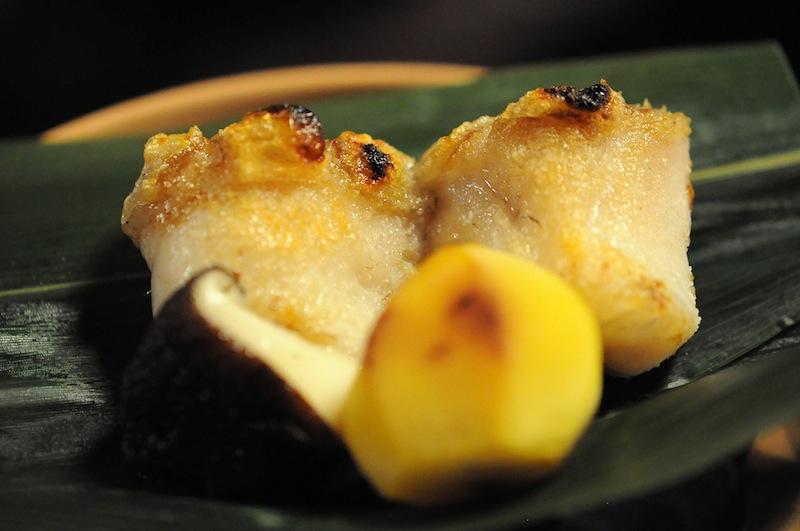 piatto grigliato, Kitcho, Chef Kunio Tokuoka, Cucina Kaiseki, Kyoto