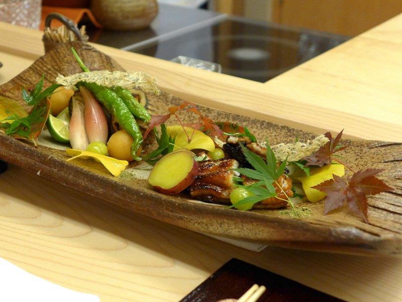 barracuda al vapore, Koju, Chef Toro Okuda, Ginza, Tokyo