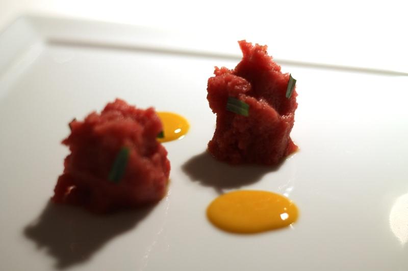 emulsione fredda di manzo, Reale, Chef Niko Romito, Castel di Sangro
