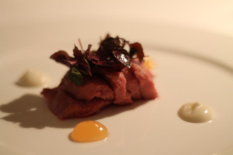 agnello aglio e pompelmo rosa, Reale, Chef Niko Romito, Castel di Sangro