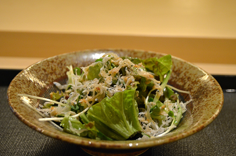 insalata, Tenko Honten, chef Tenko-san, Hiroshima, Japan