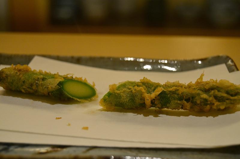 asparago, Tenko Honten, chef Tenko-san, Hiroshima, Japan