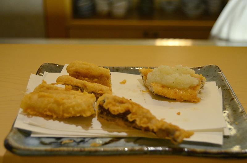 anago con rafano, Tenko Honten, chef Tenko-san, Hiroshima, Japan