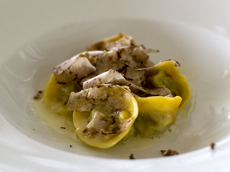 tortelli liquidi, La Ciau del Tornavento, Chef Maurilio Garola, Treiso,Cuneo
