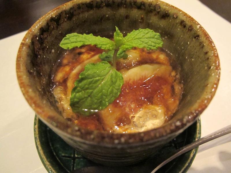 fichi, sciroppo di zucchero e fagioli, Esaki, chef Shintaro Esaki, Aoyama, Tokyo