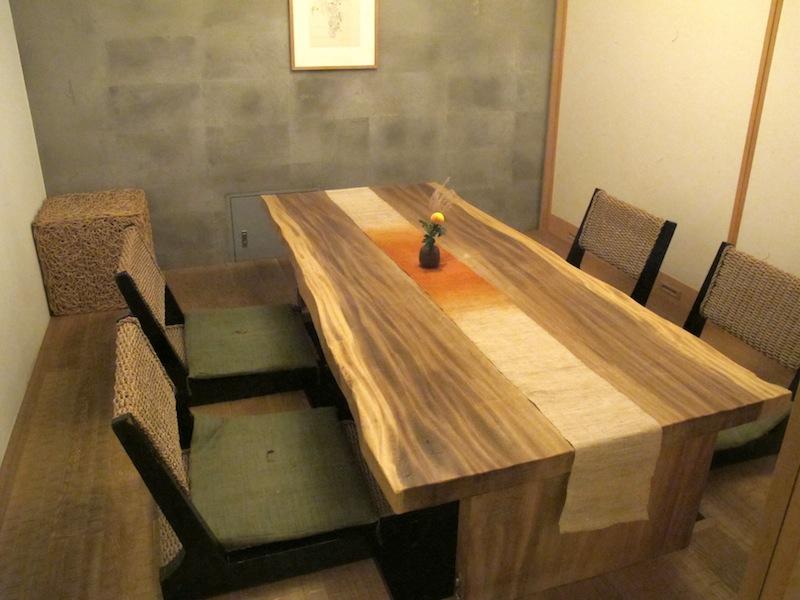 sala privata con tatami, Esaki, chef Shintaro Esaki, Aoyama, Tokyo